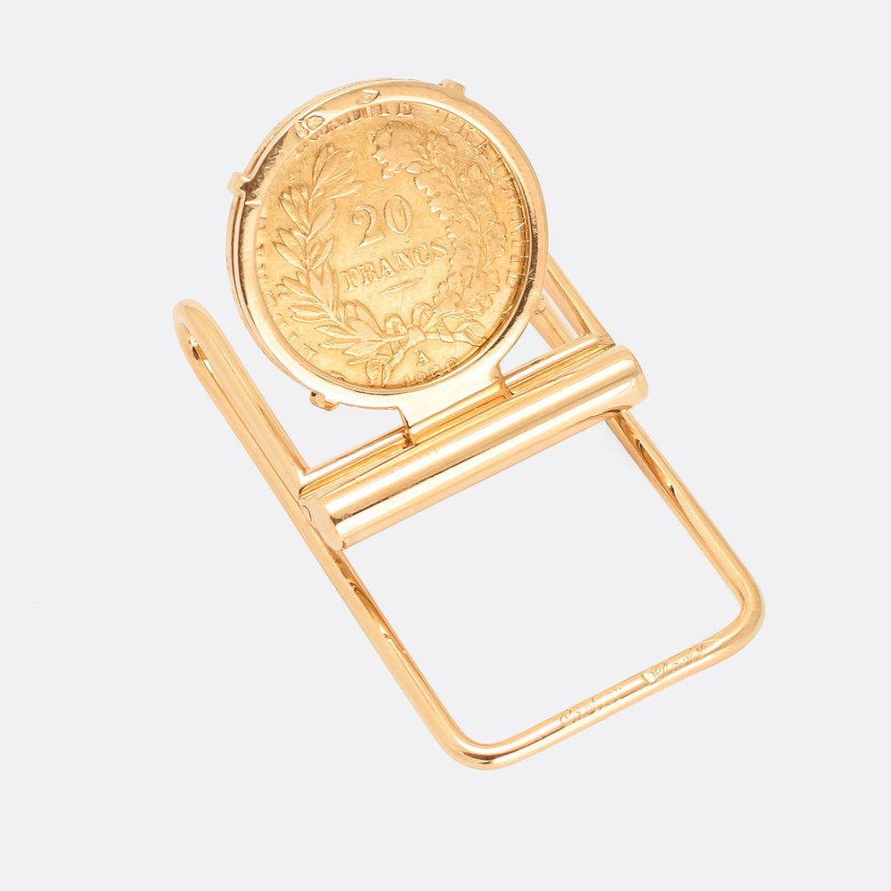 Vintage solid gold Cartier Money Clip