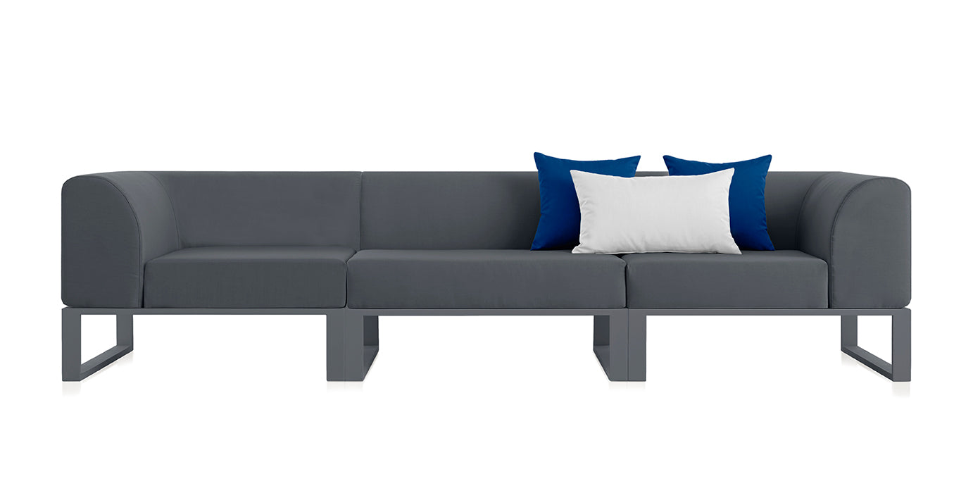 Sofa modular Ploid de 3 plazas antracita