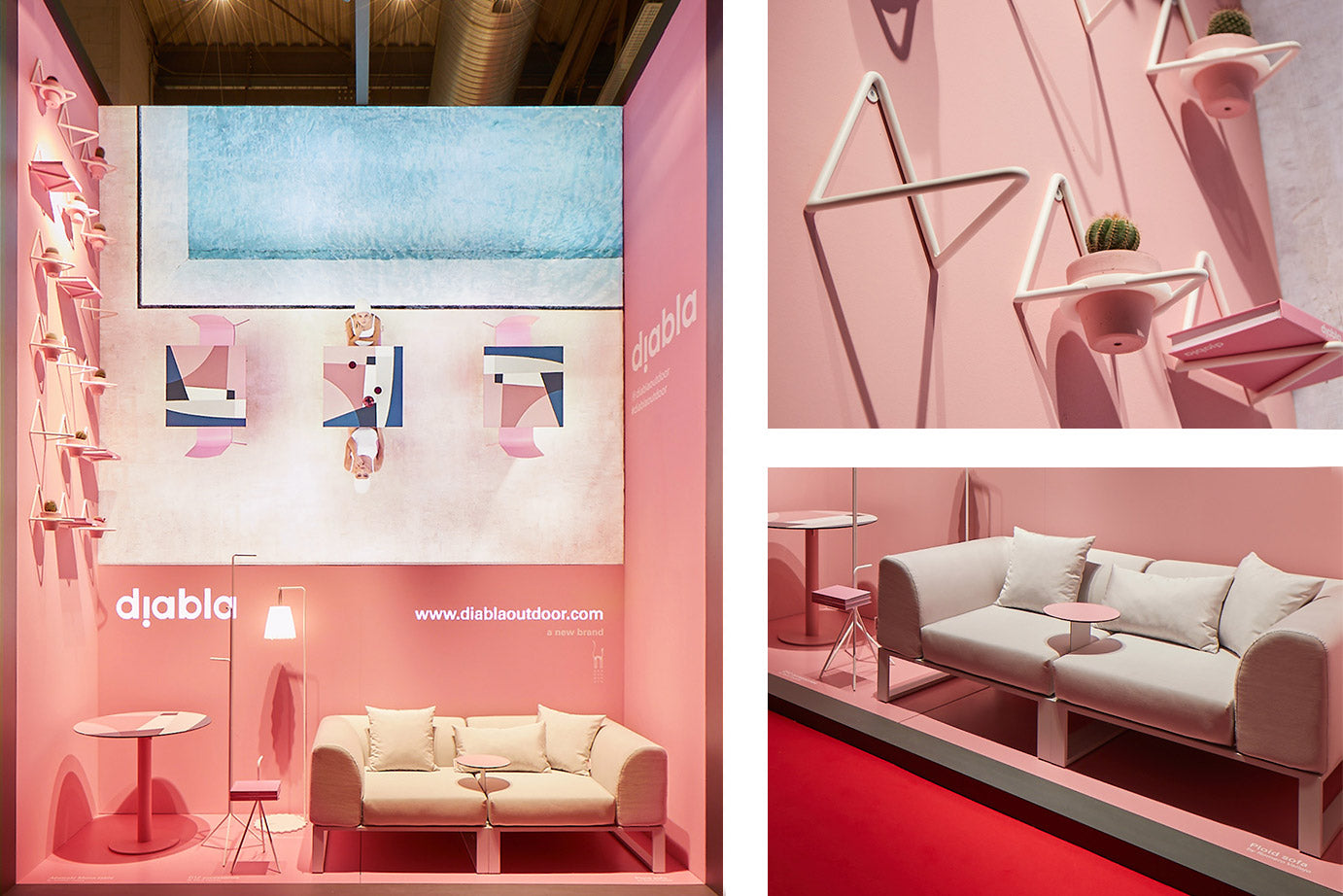 Stand Milan 2019 pink for Diabla