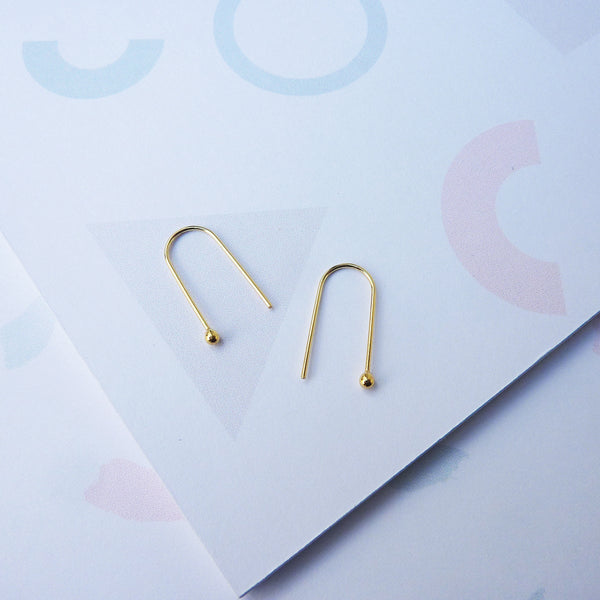 Earrings - Arc Gold