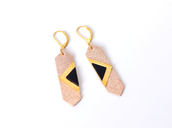 Earrings - LOUVRE Pink/Black