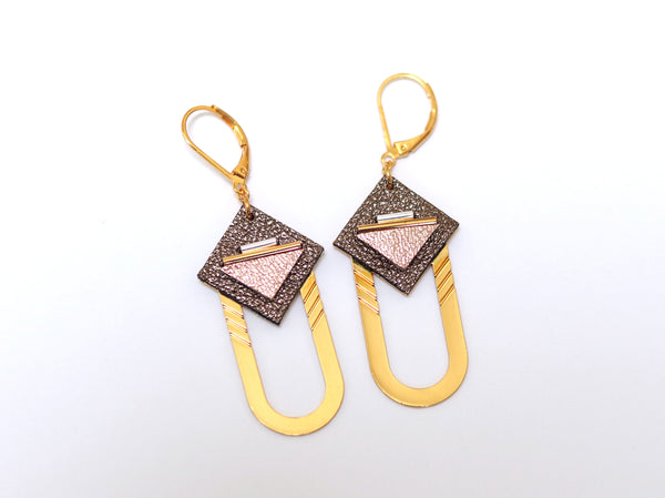 Earrings - SAQ Hoops Brown