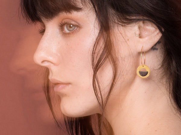 Earrings - NEOLICHT Brown Hoops