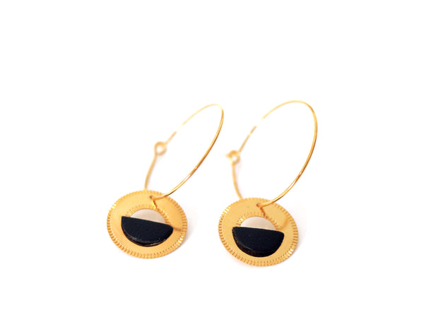Earrings - NEOLICHT Hoops Black