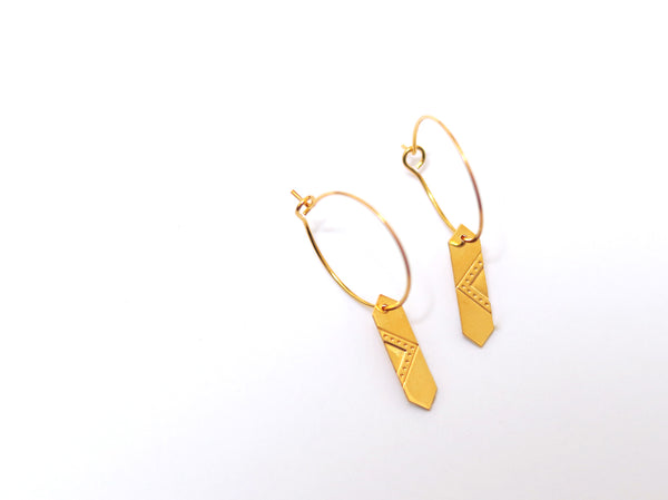 Earrings - LOUVRE Gold Hoop