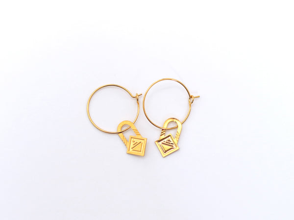 Earrings - SAQ Hoops Gold
