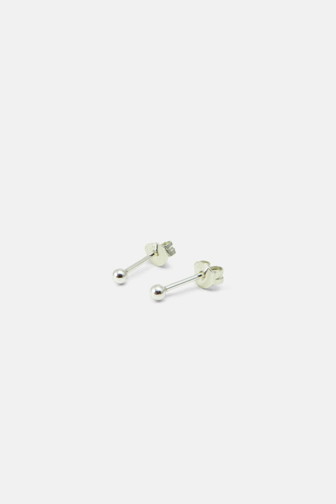 Earrings - Tiny ball 2mm Silver