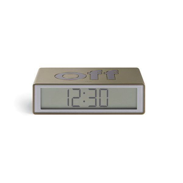 Lexon flip clock 2 - Gold metal