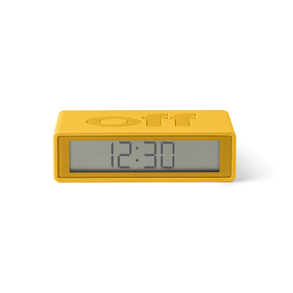 Lexon flip clock 2 - Yellow