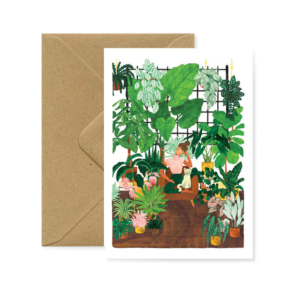 Postcard - Plant Addict Lady