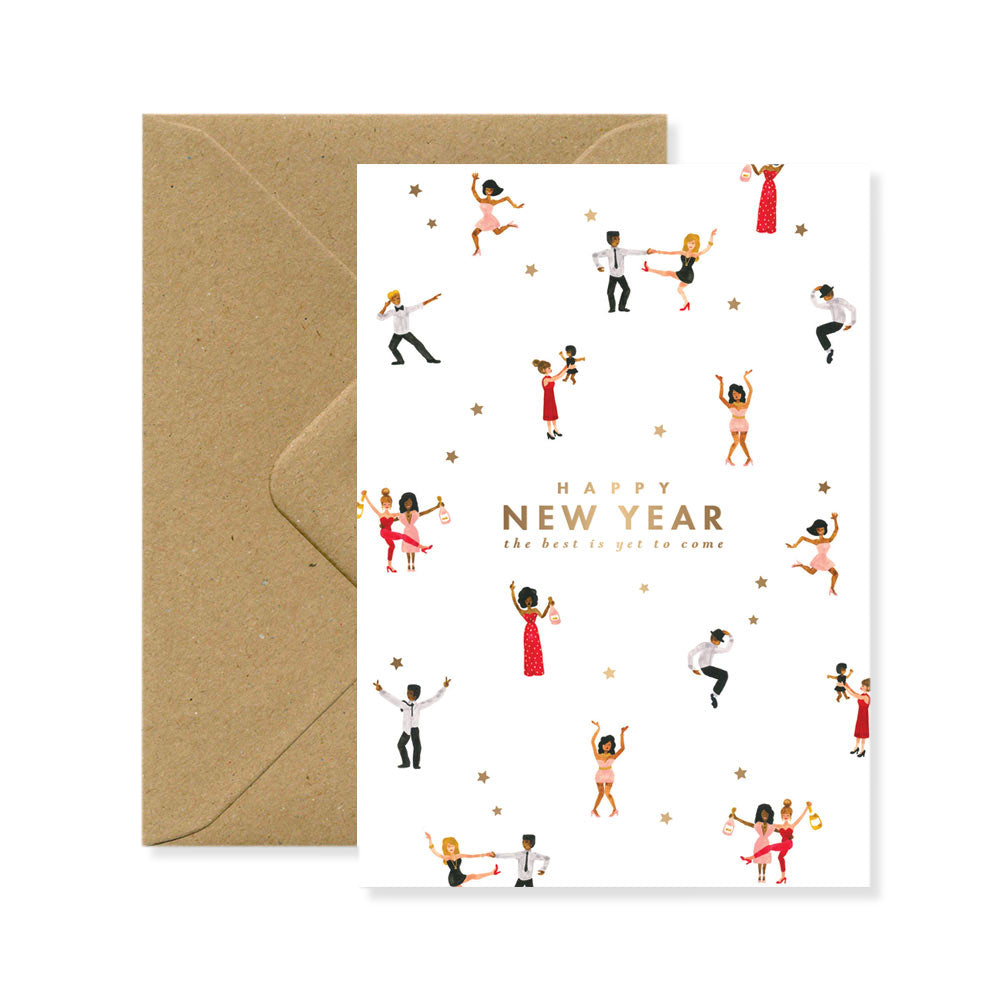 Postcard - Happy New Year Dancers