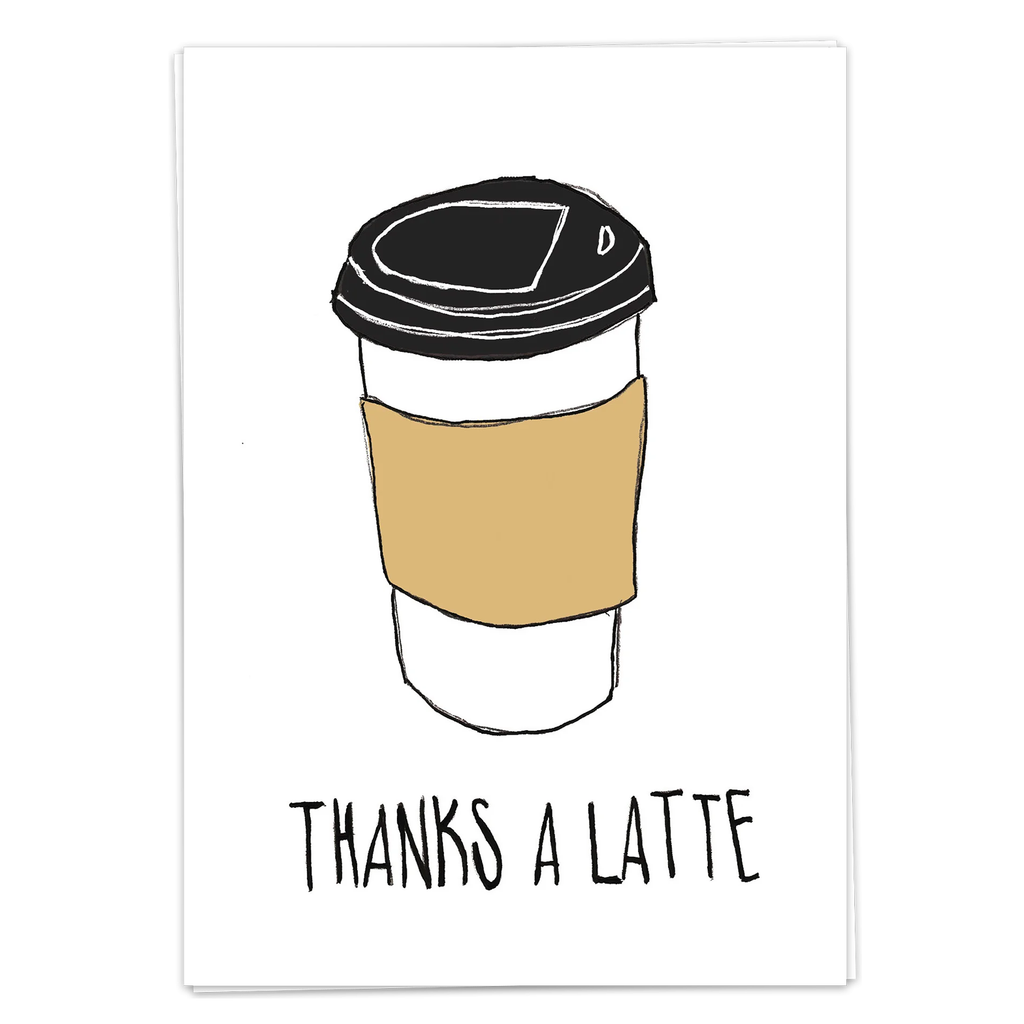 Postcard - Thank a Latte