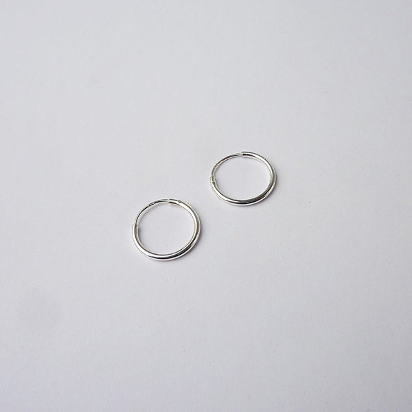 Earrings - Mini Hoops Silver