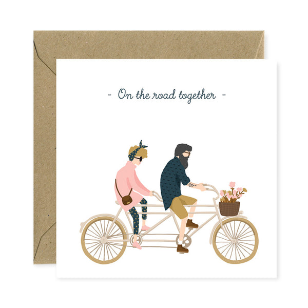 Postcard square  - On the road together