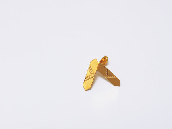 Earrings - LOUVRE Studs Gold