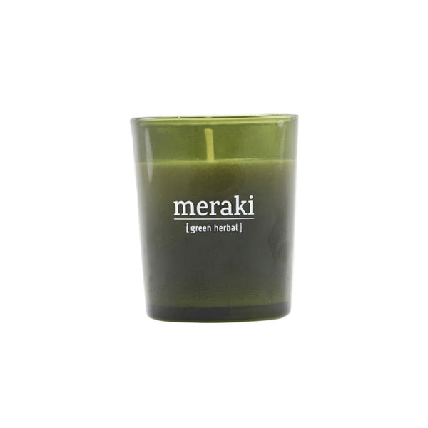 Scented Candle - Green Herbal Meraki