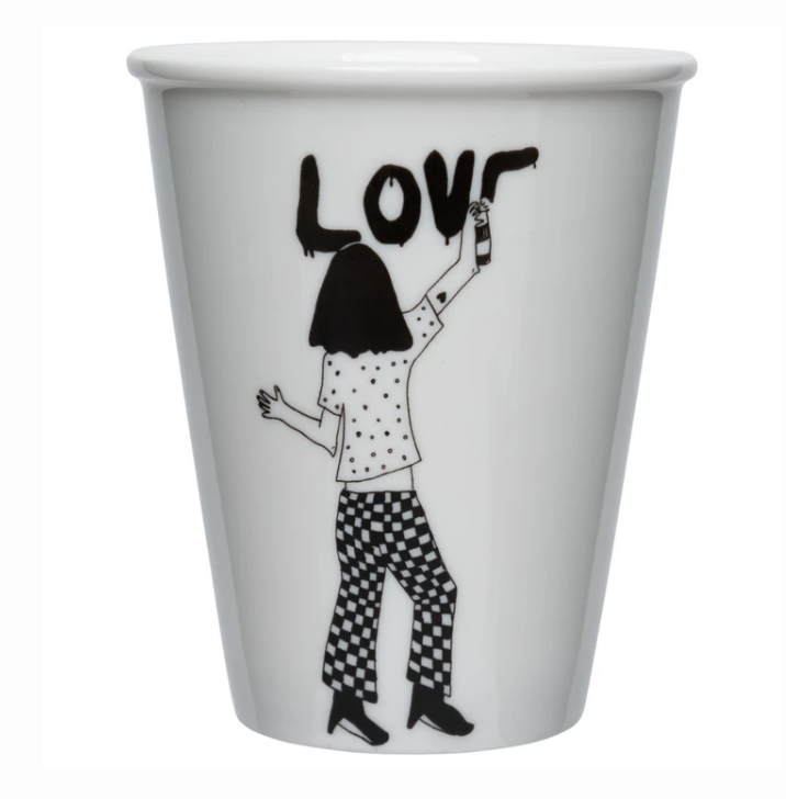 Porcelain cup - 'Love'
