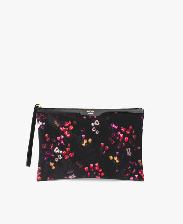 Velvet Night Clutch - Tulips