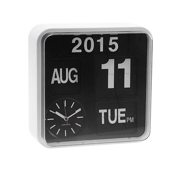 Wall clock mini flip - White