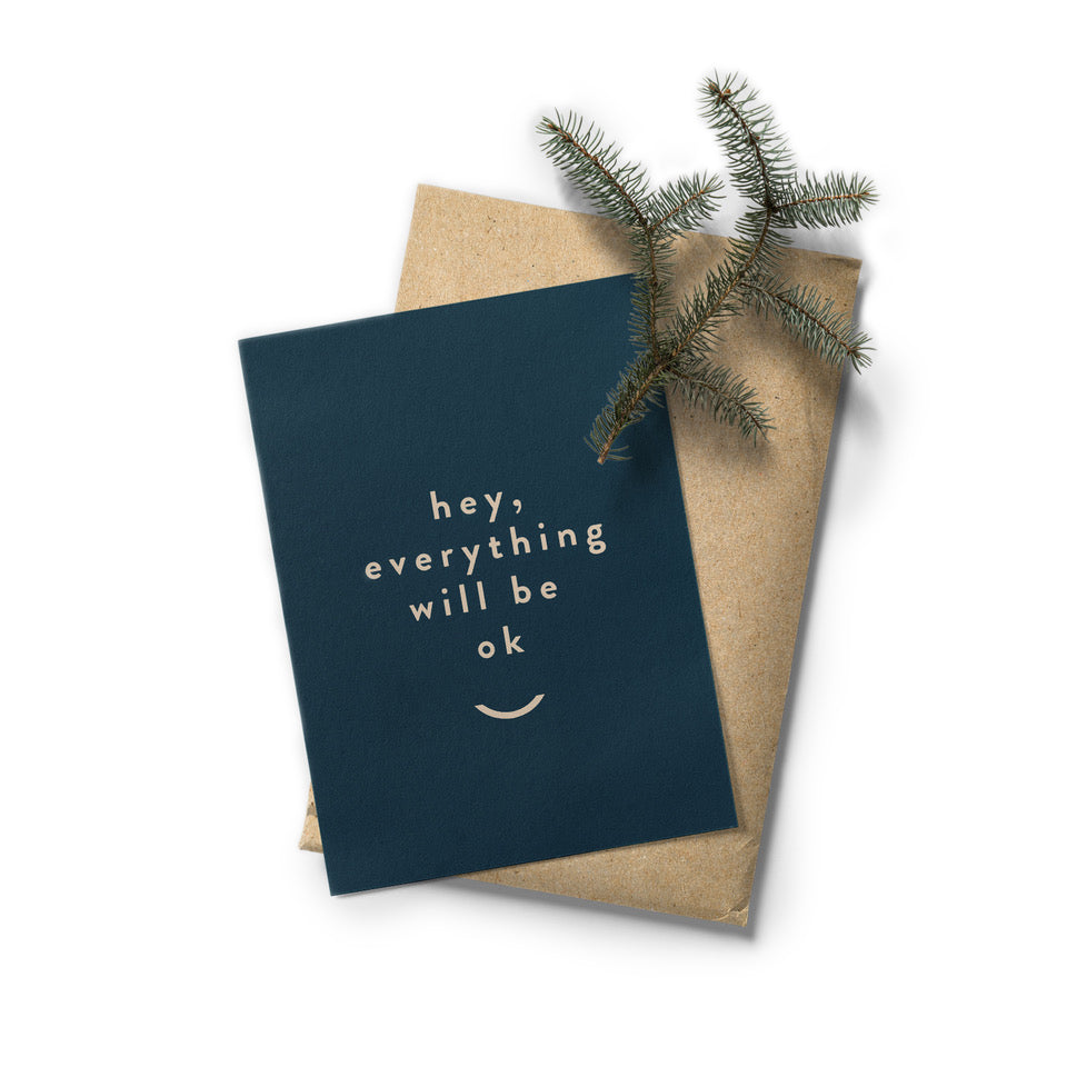 Postcard - Everything will be ok
