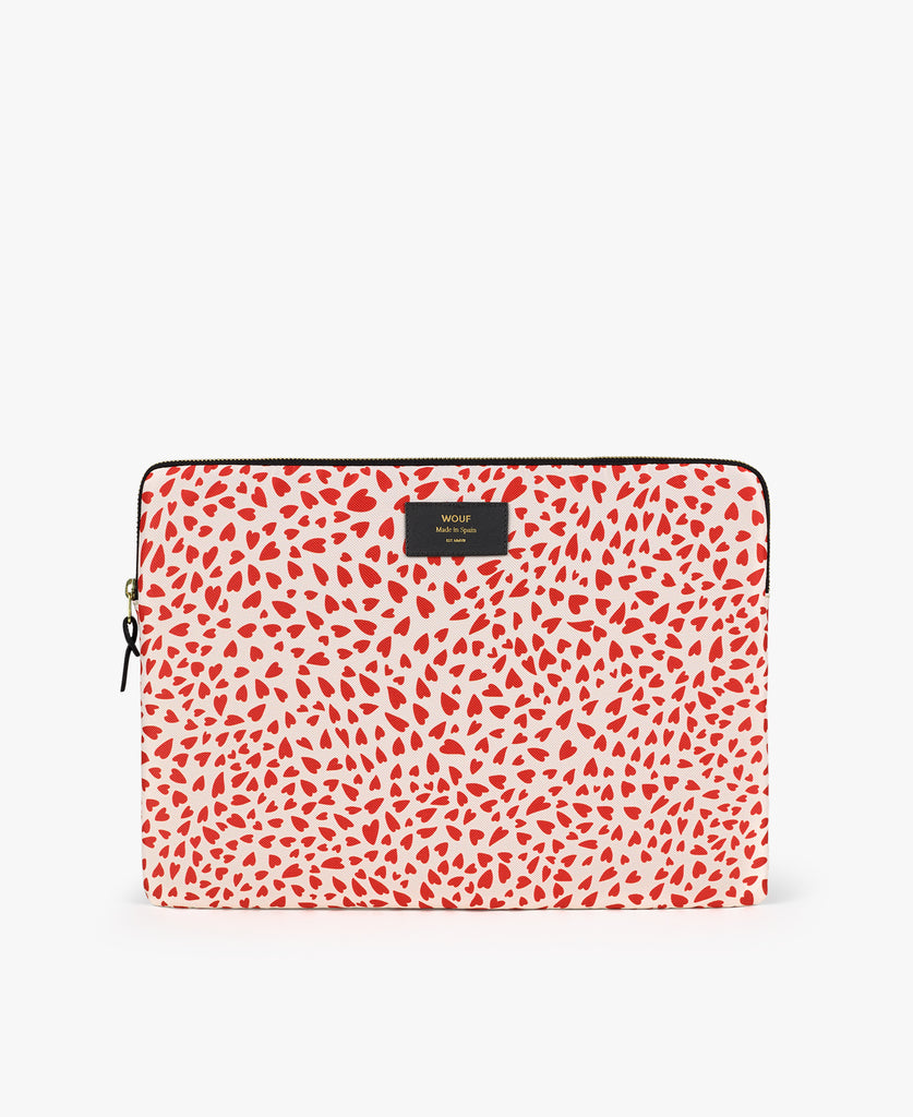 "Laptop Sleeve 15"" - Hearts White"