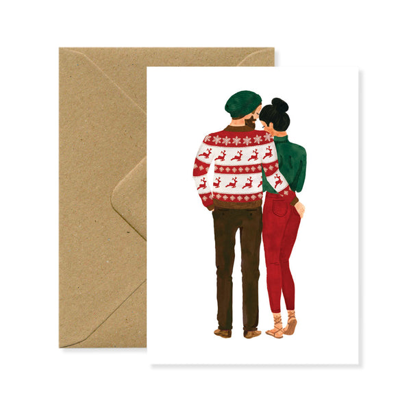 Postcard - Xmas Lovers