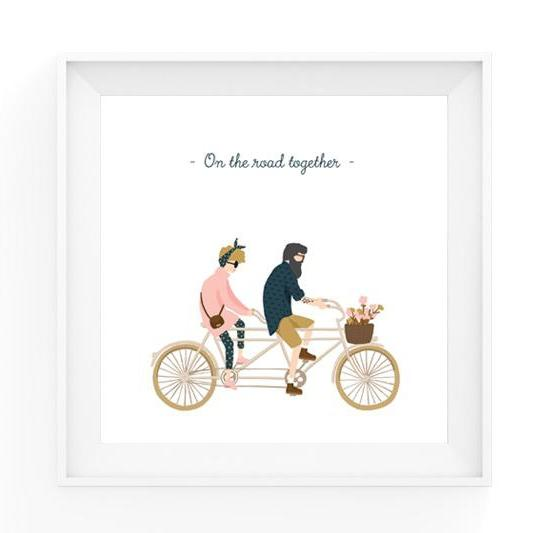 Art print - On The Road-All the ways to say-My Ex Boyfriend