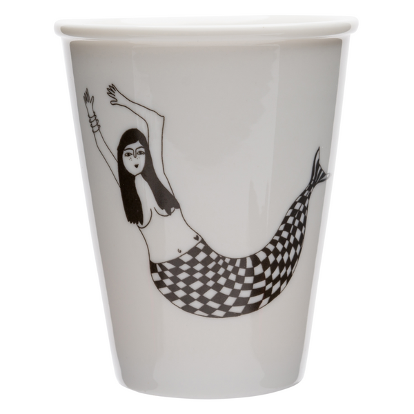 Porcelain cup - 'Mermaid Martina'