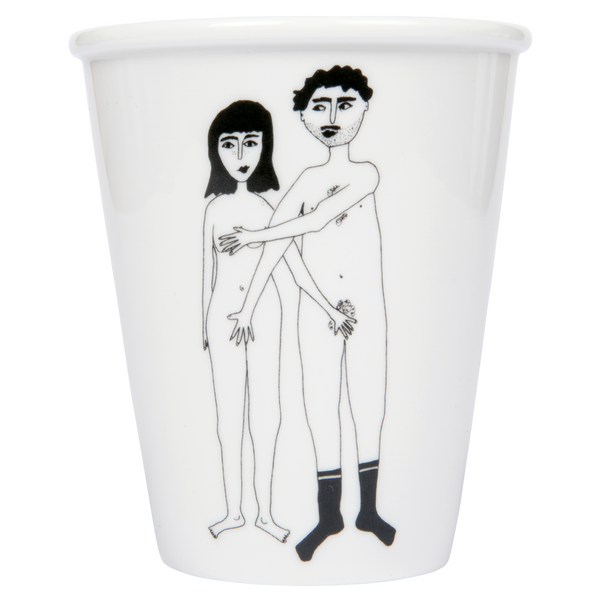 Porcelain cup - 'Naked Couple'