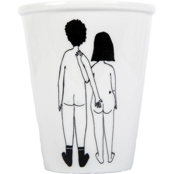 Porcelain cup - 'Naked Couple Back'