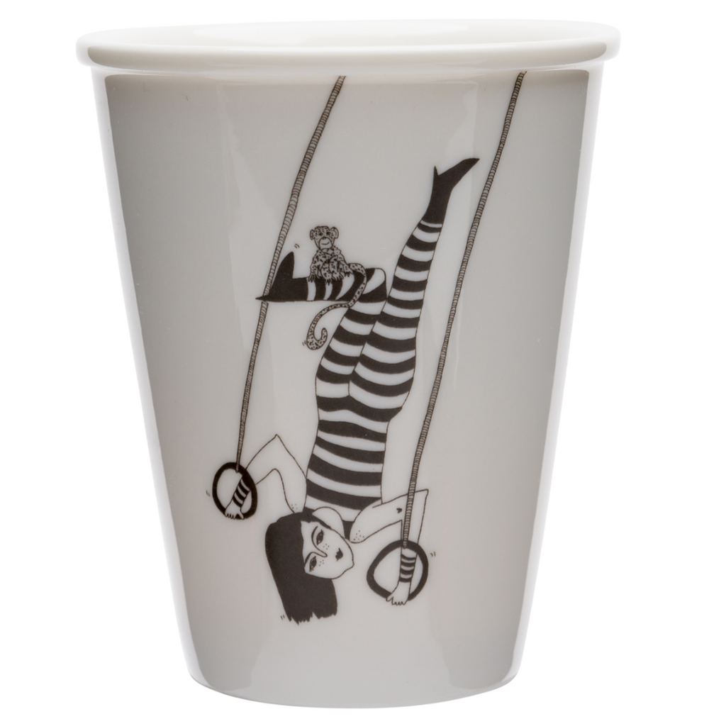 Porcelain cup - 'Tiger Woman'
