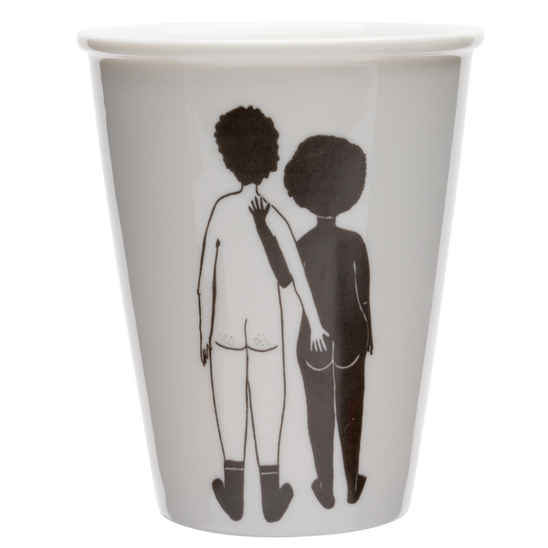 Porcelain cup - 'White Man & Black Woman'
