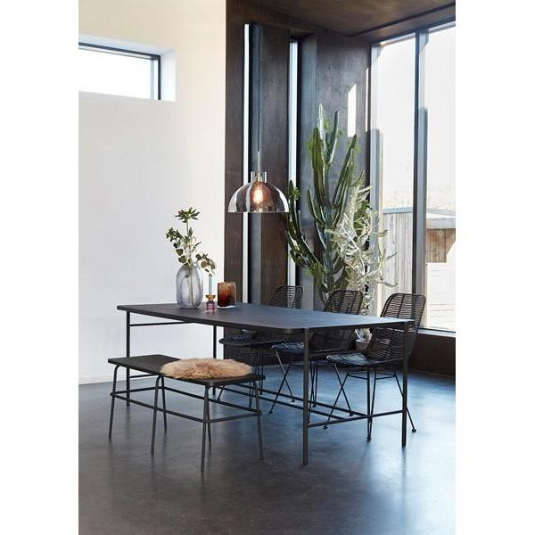 Dining table - Metal+ Wood (Black)-Hübsch-My Ex Boyfriend