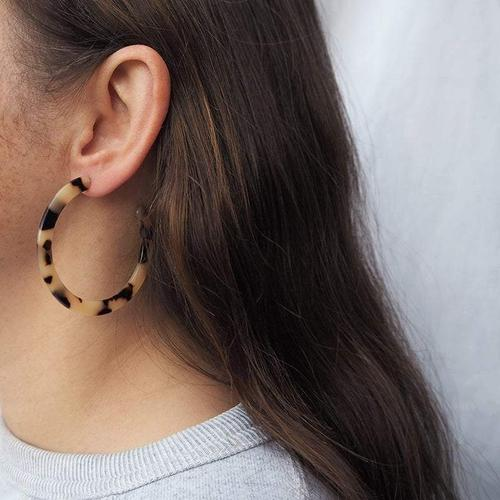 Earrings - Bia Acetate Hoops-Custom Made-My Ex Boyfriend