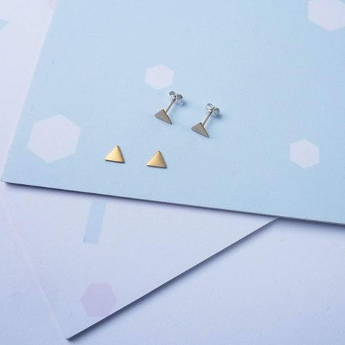 Earrings - Tiny Triangle Studs-Custom Made-My Ex Boyfriend