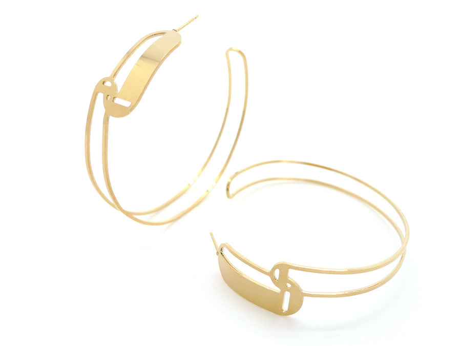 Earrings - Maxi Hoop You & Me