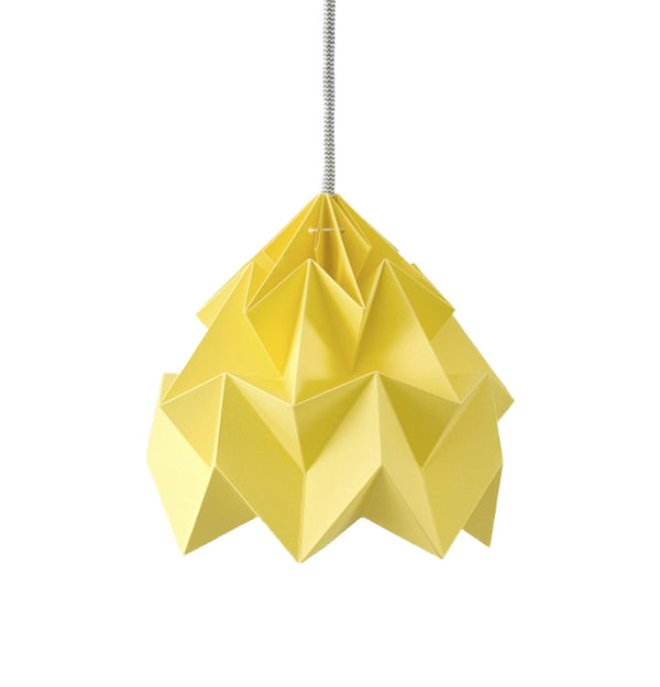 Moth paper origami lamp autumn yellow - In stock: 1