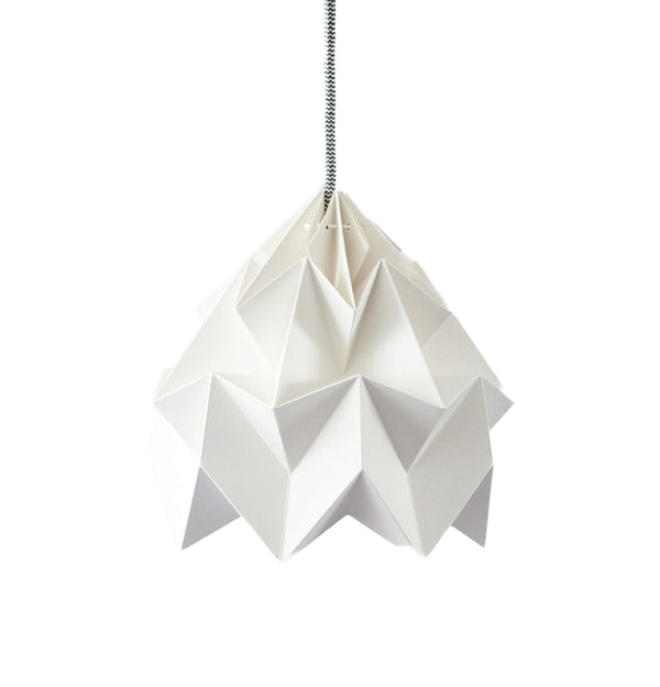 Moth paper origami lamp white - In stock: 2