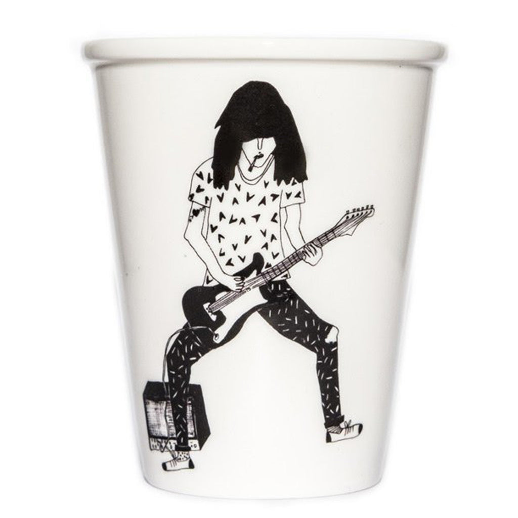 Porcelain cup - 'Guitar player'