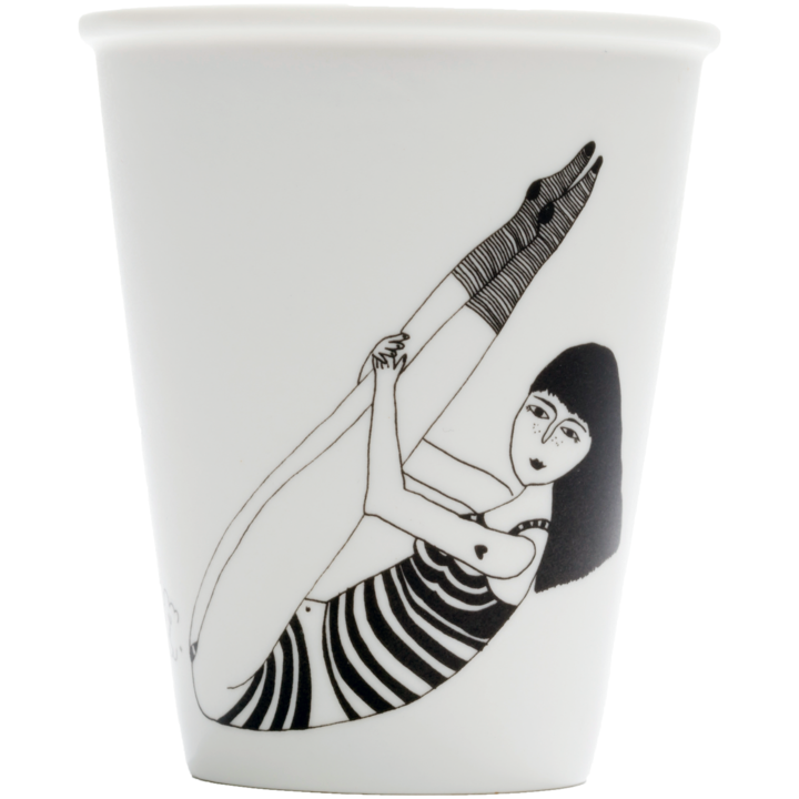 Porcelain cup - 'Pin-up Prot Girl'-Helen B-My Ex Boyfriend