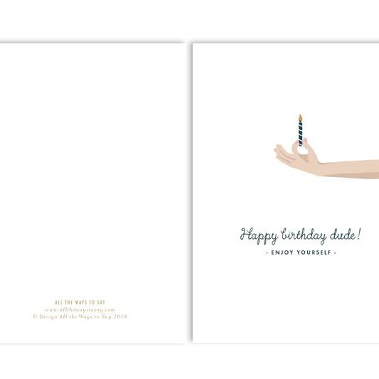 Postcard - Happy Birthday Dude-All the ways to say-My Ex Boyfriend