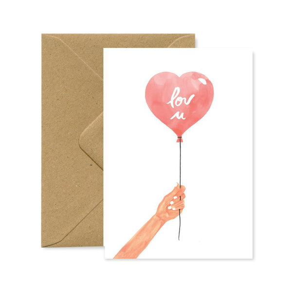 Postcard - Heart Balloon