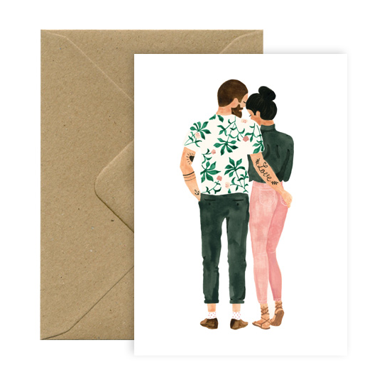 Postcard - Loving hipsters-All the ways to say-My Ex Boyfriend