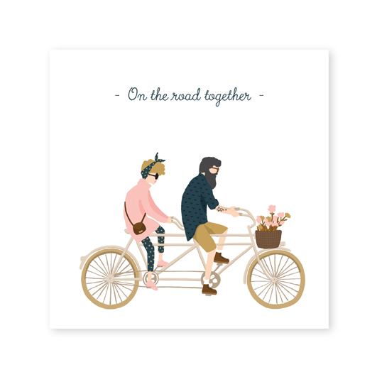 Postcard square - On the road together-All the ways to say-My Ex Boyfriend