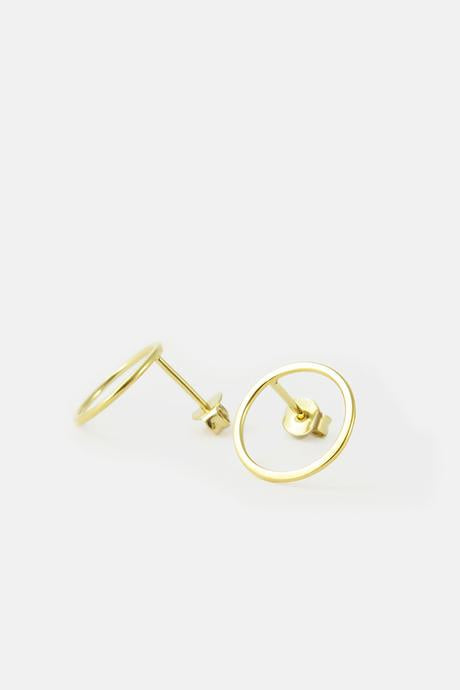 Earrings - Closed Ring Vermeil