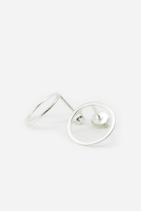 Earrings - Closed Ring Silver