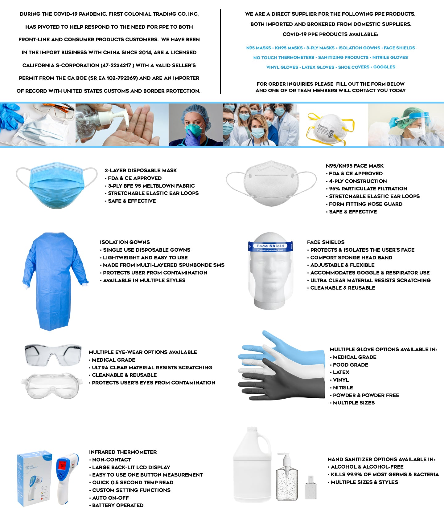 PPE PRODUCTS AND SUPPLIES
