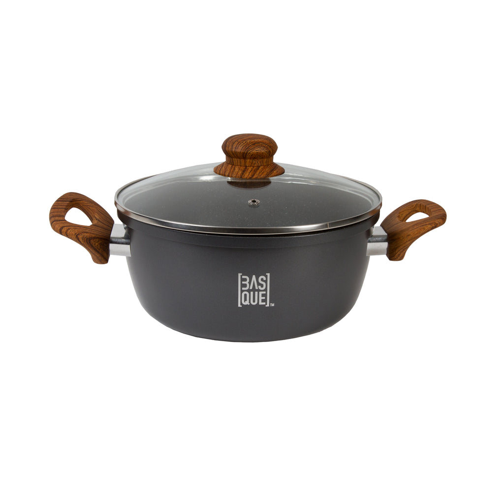 Basque® Modern Rustics Non-Stick 2qt. Casserole and Lid