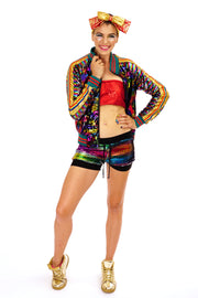 '01' PHOTOS - Rainbow -  Sequin Hotpants