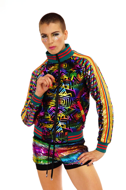 Deluxe Disarray Bomber Jacket - Rainbow Realness